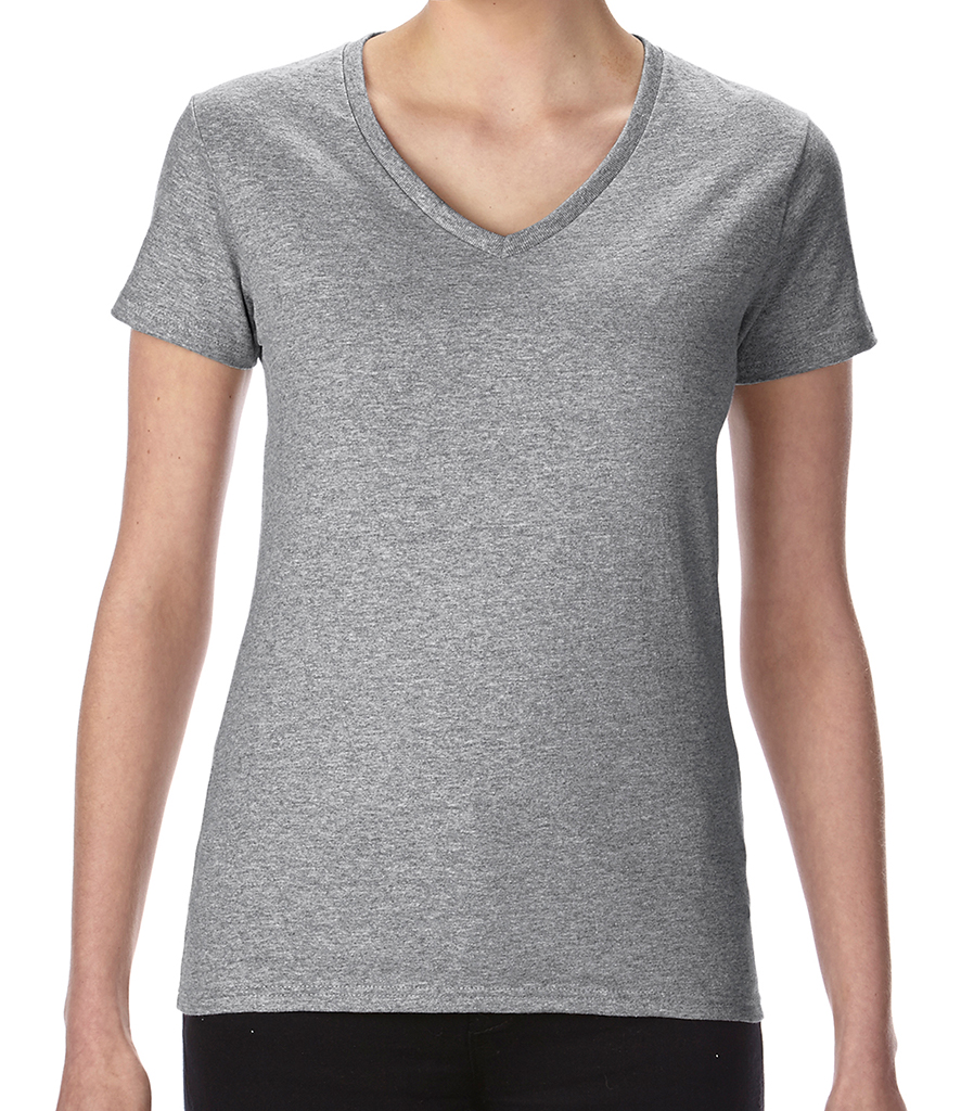 Gildan Ladies Premium Cotton® V Neck T-Shirt