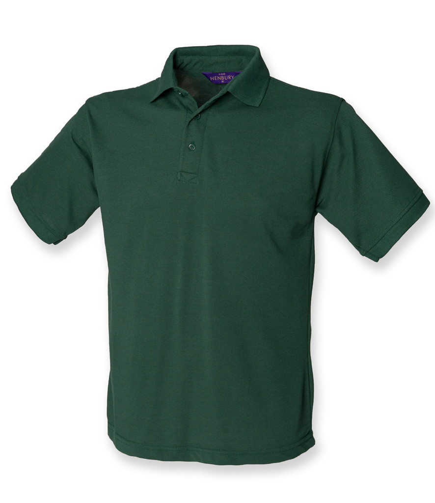 Henbury Heavy Poly/Cotton Piqué Polo Shirt