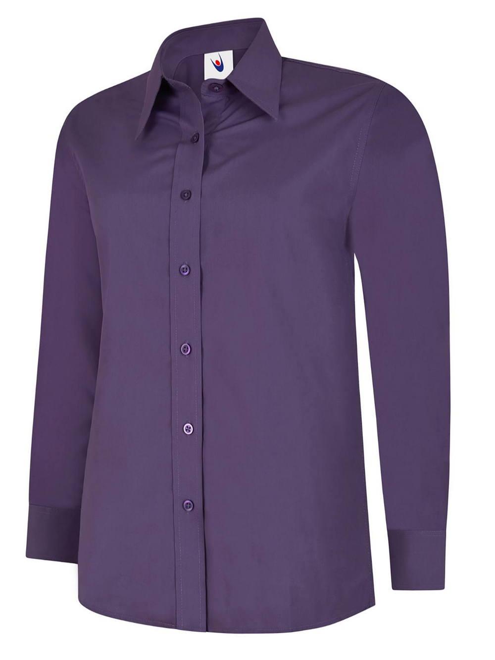 Uneek Ladies Poplin Full Sleeve Shirt